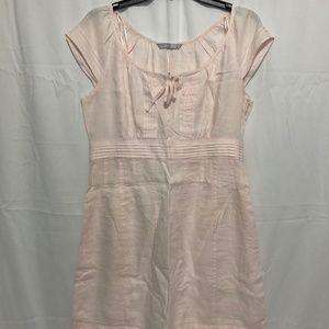 Size 12 EUC Powder Pink Linen Dress